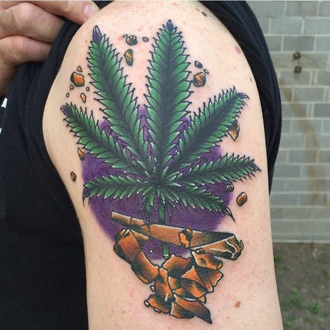 weed tattoo5