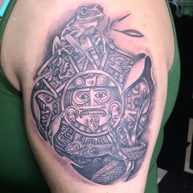 Pictures Of Mayan Tattoos Designs Meanings Rock Cafe