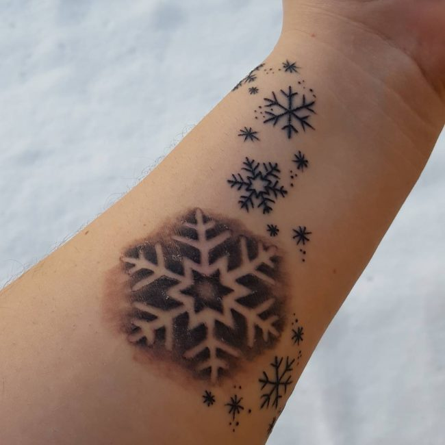 Snowflake Tattoo_