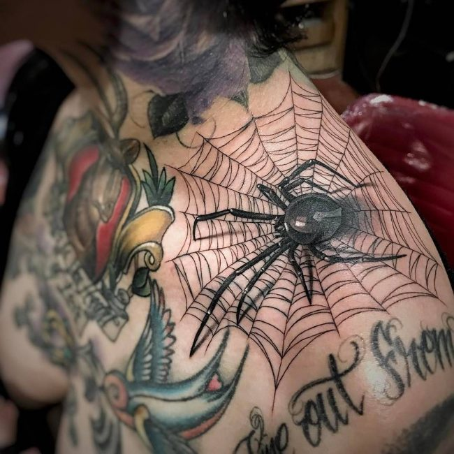 Spider Web Tattoo_
