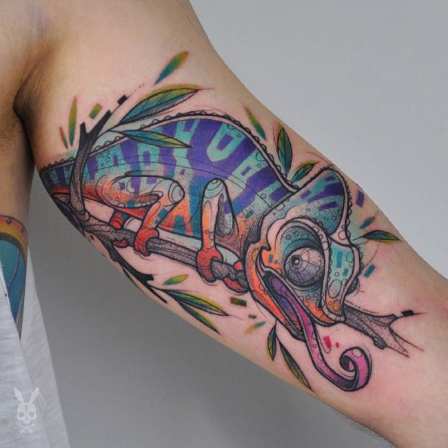 chameleon tattoo10
