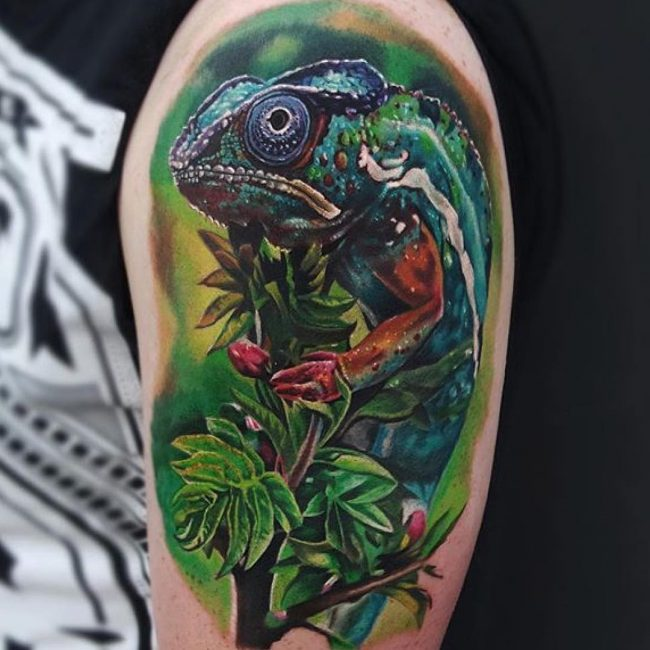 chameleon tattoo13
