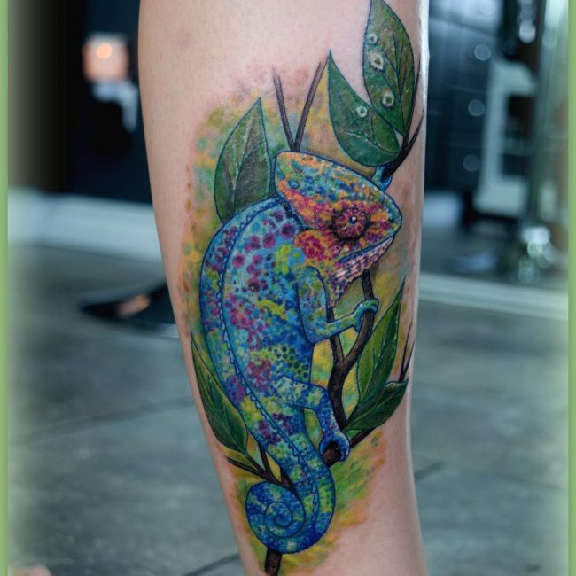 chameleon tattoo14