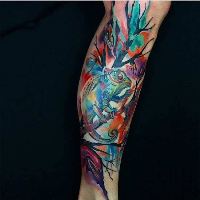 chameleon tattoo19