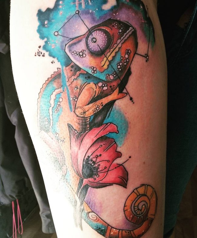 chameleon tattoo21