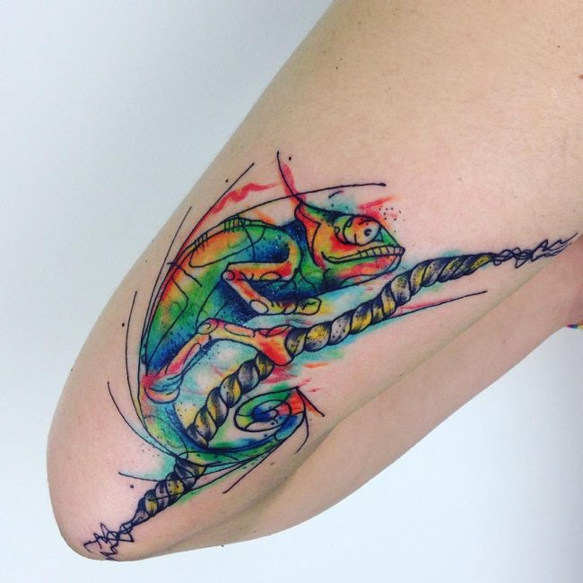 chameleon tattoo27
