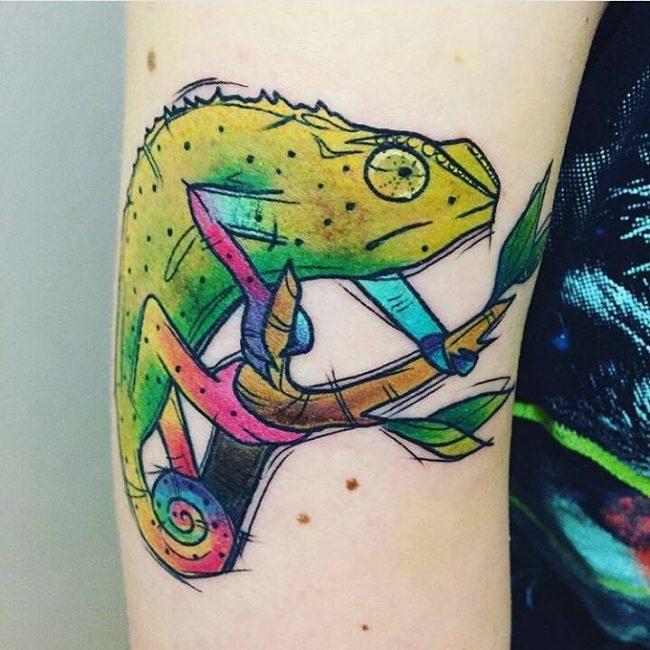 chameleon tattoo3