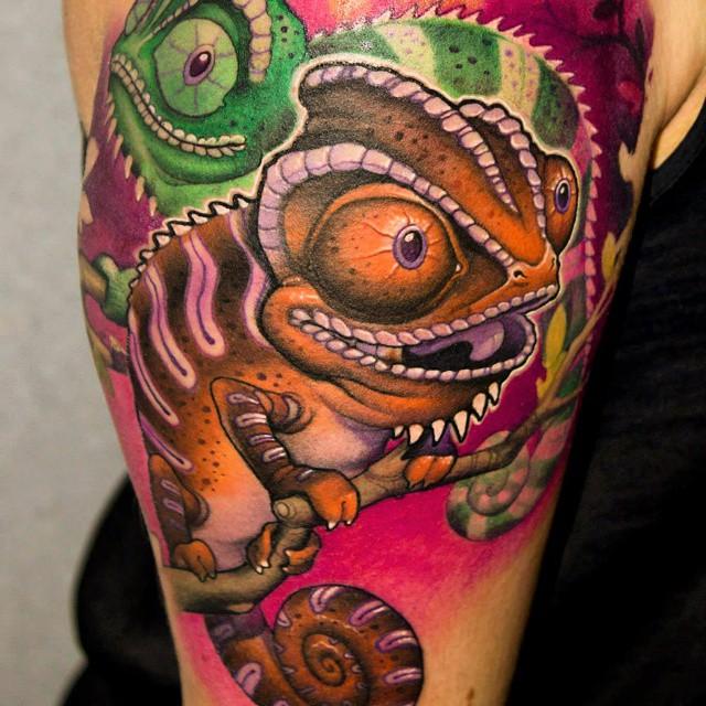 chameleon tattoo33