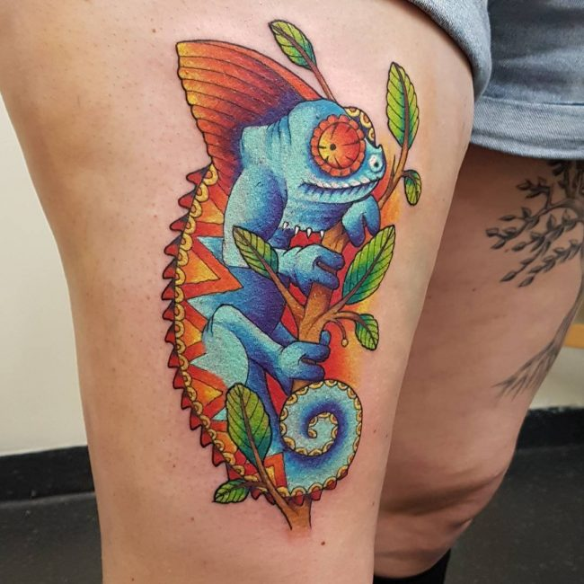 chameleon tattoo8
