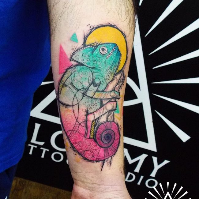 chameleon tattoo9