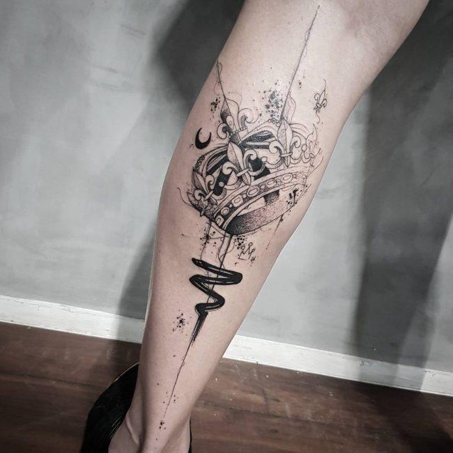 crown tattoo2