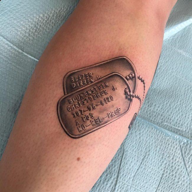 dog tag tattoo22