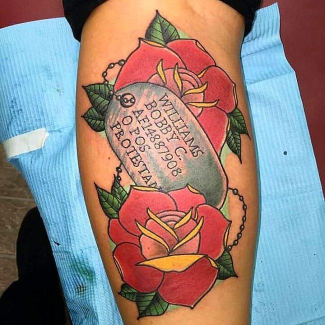 dog tag tattoo25