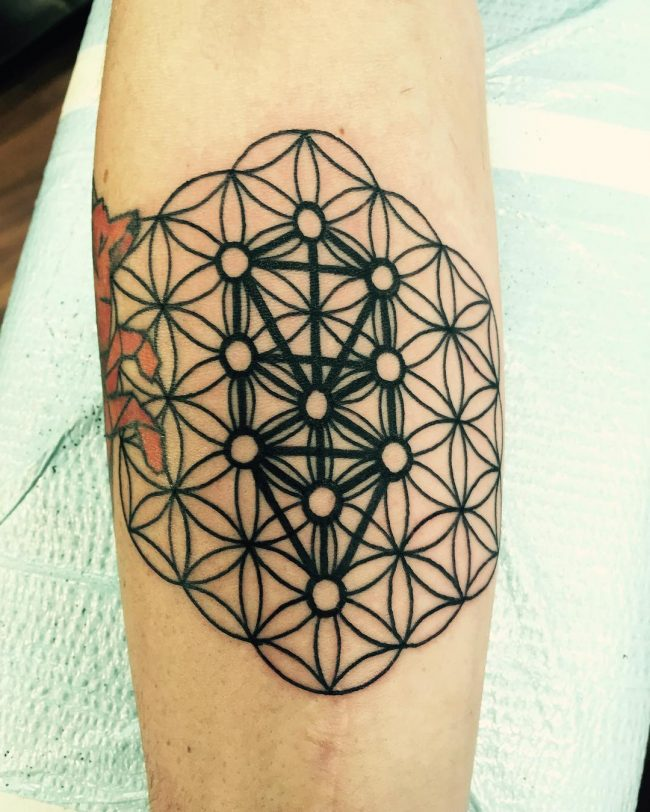 105 cool flower of life tattoo ideas the geometric pattern full of secrets. Black Bedroom Furniture Sets. Home Design Ideas