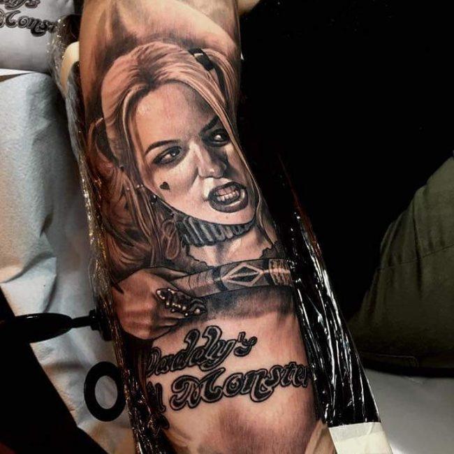 harley quinn tattoo10