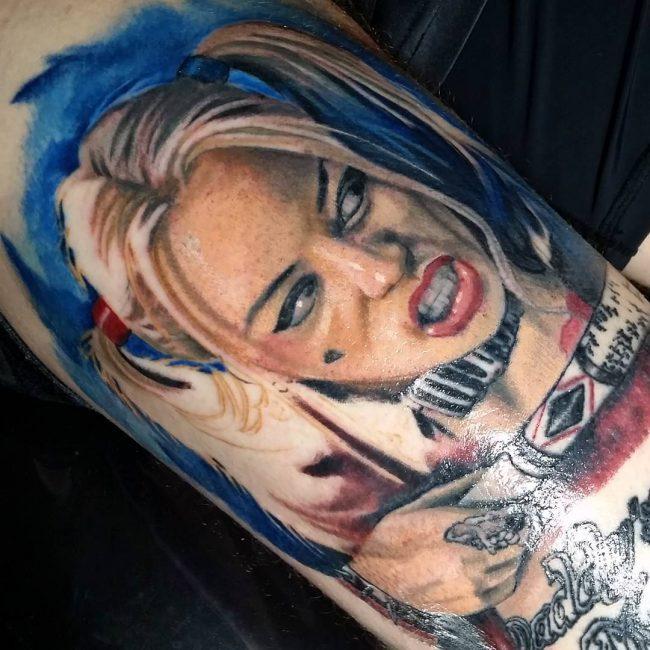 harley quinn tattoo16