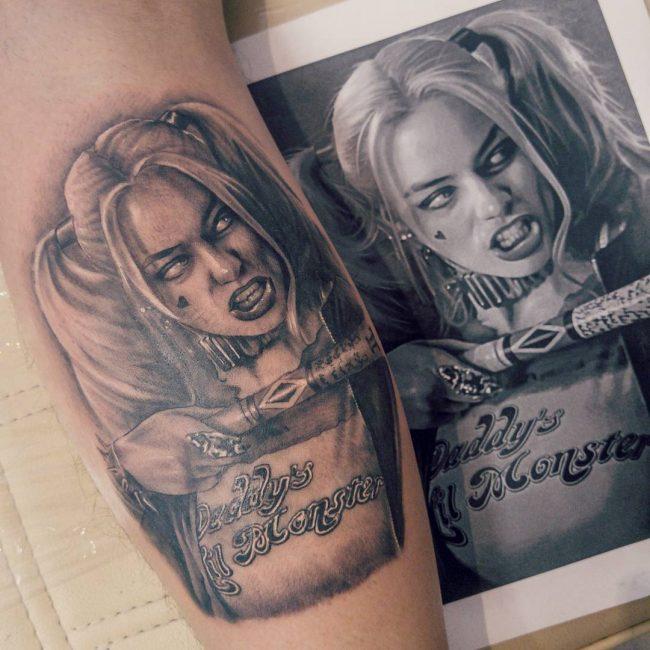 harley quinn tattoo17