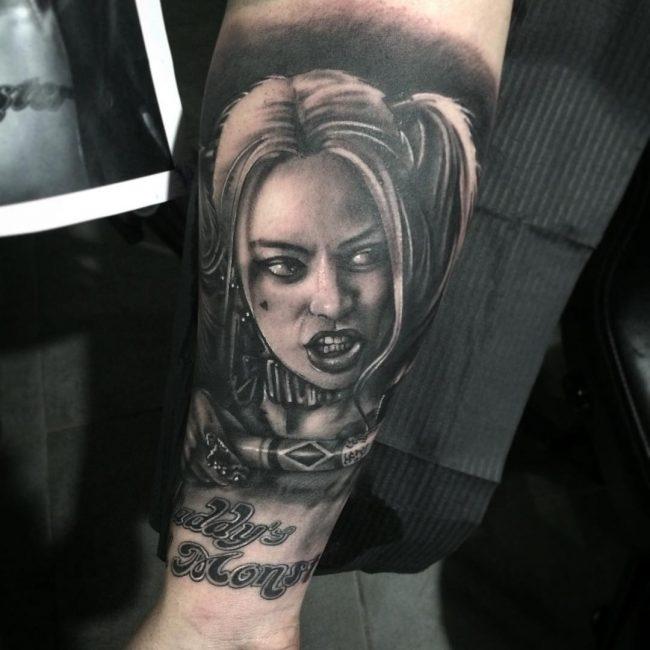 harley quinn tattoo18