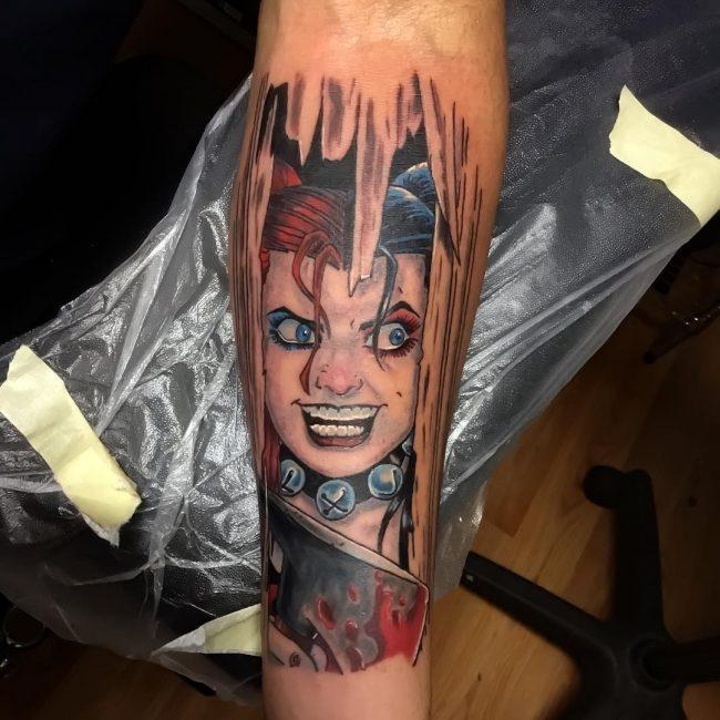 harley quinn tattoo28