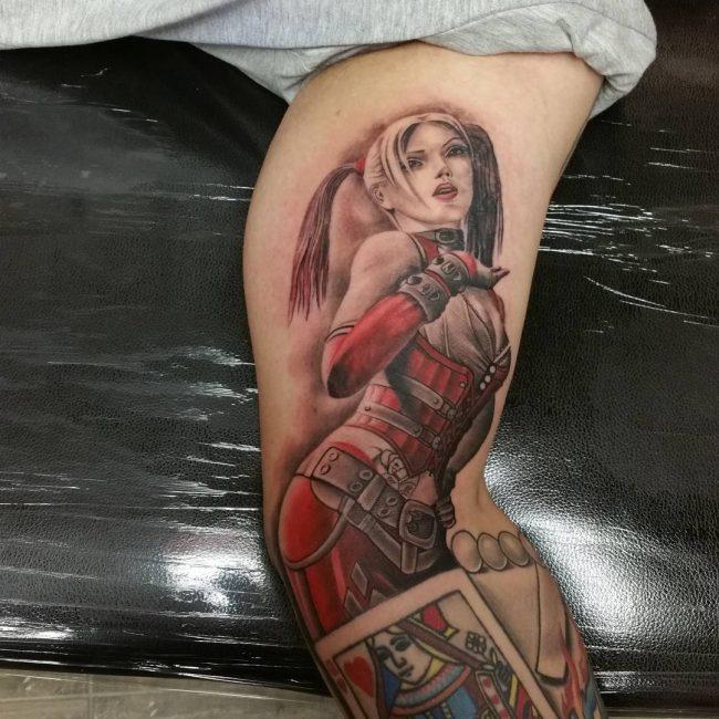 harley quinn tattoo30