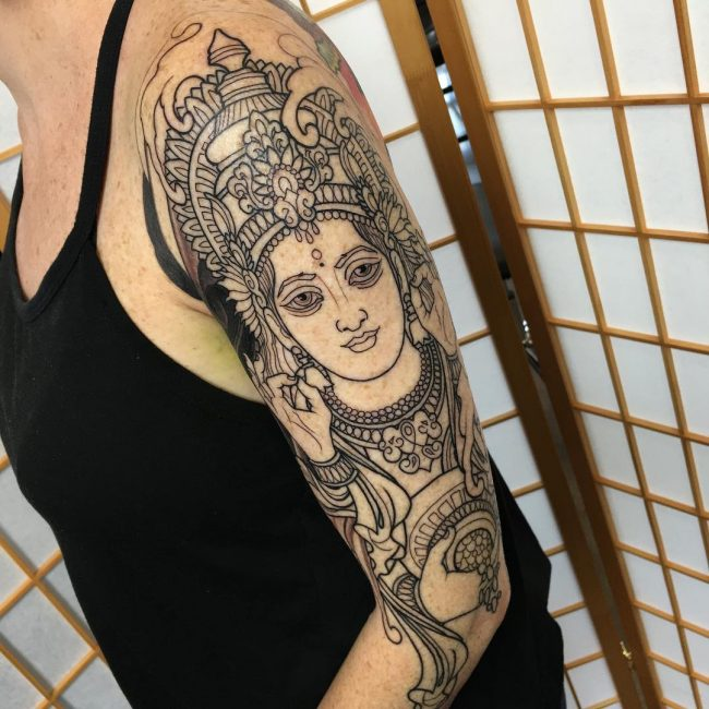 70 sacred hindu tattoo ideas � designs packed with color