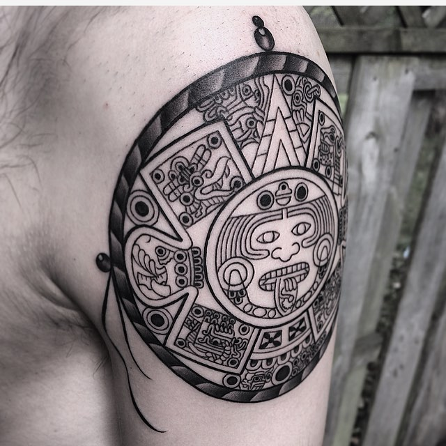 85 symbolic mayan tattoo ideas fusing ancient art with modern tattoos. Black Bedroom Furniture Sets. Home Design Ideas