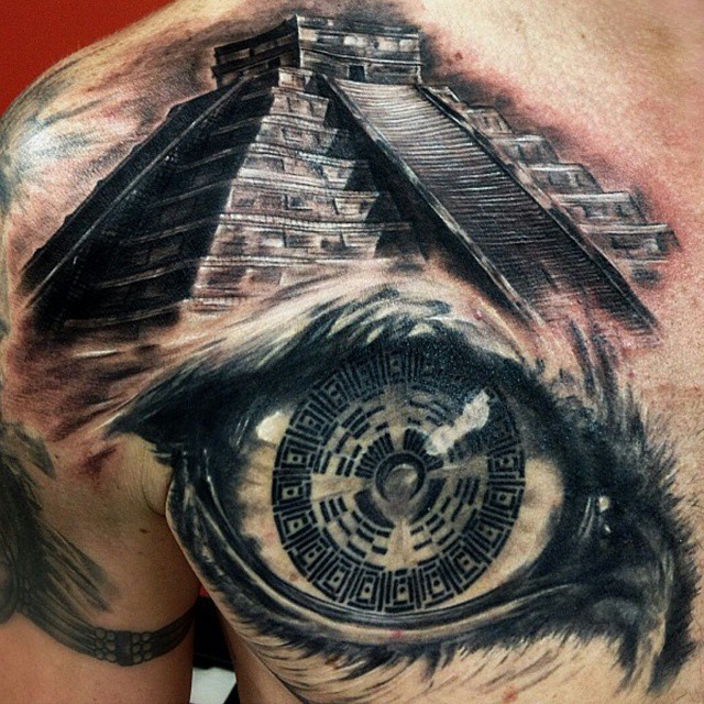 Pyramid Tattoos Designs Ideas And Meaning: 50 Symbolic Mayan Tattoo Ideas