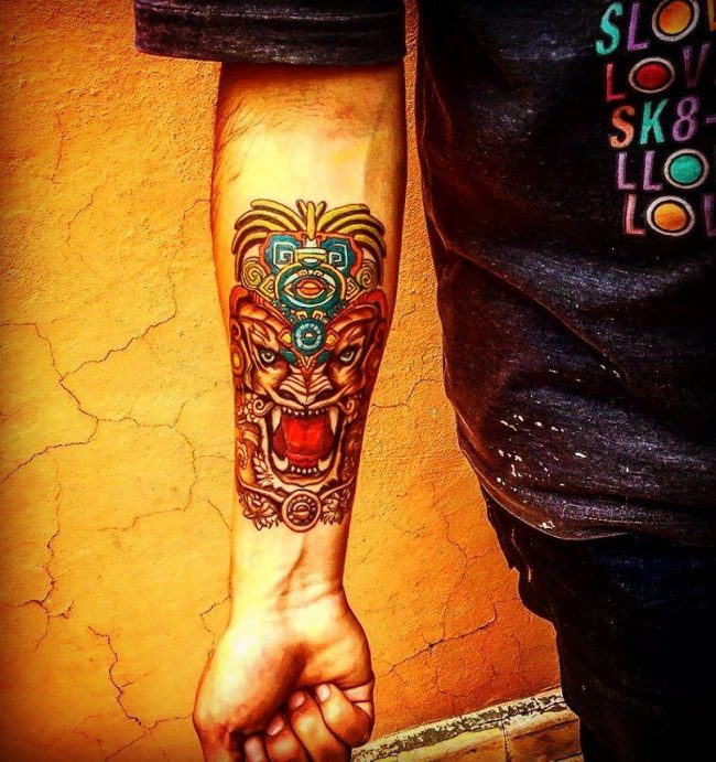 100's of Mayan Tattoo Design Ideas Pictures Gallery |Mayan Tattoo Color
