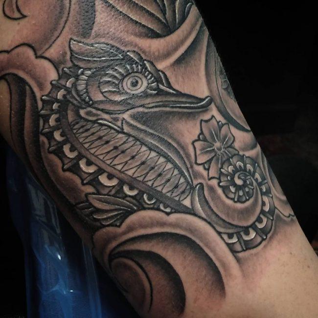 seahorse tattoo2