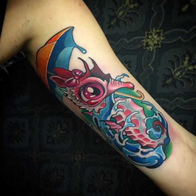 seahorse tattoo20
