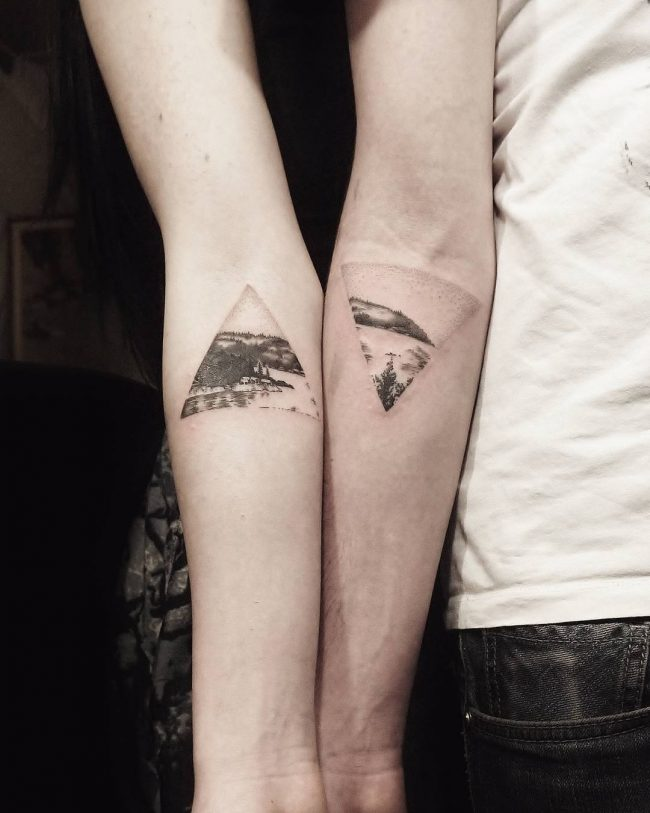 Cute Brother Sister Tattoos