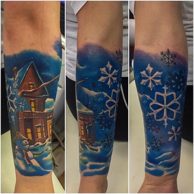 snowflake tattoo1