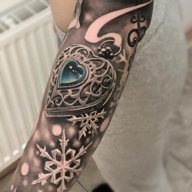 snowflake tattoo18