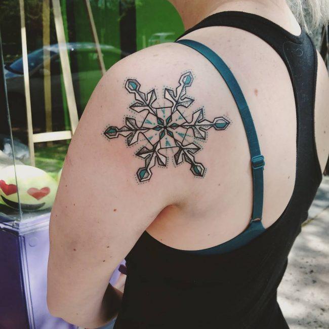 snowflake tattoo33