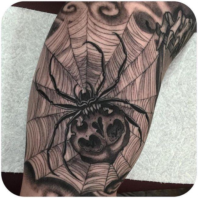 spider web tattoo1