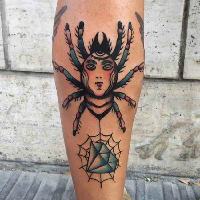 spider web tattoo16