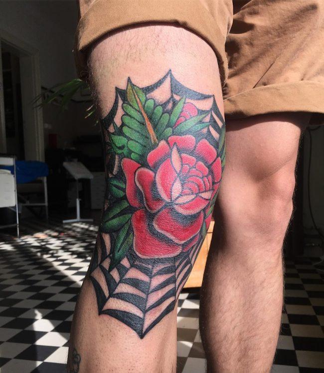 spider web tattoo17