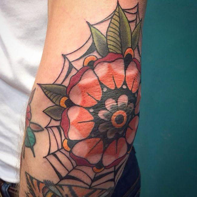 spider web tattoo20