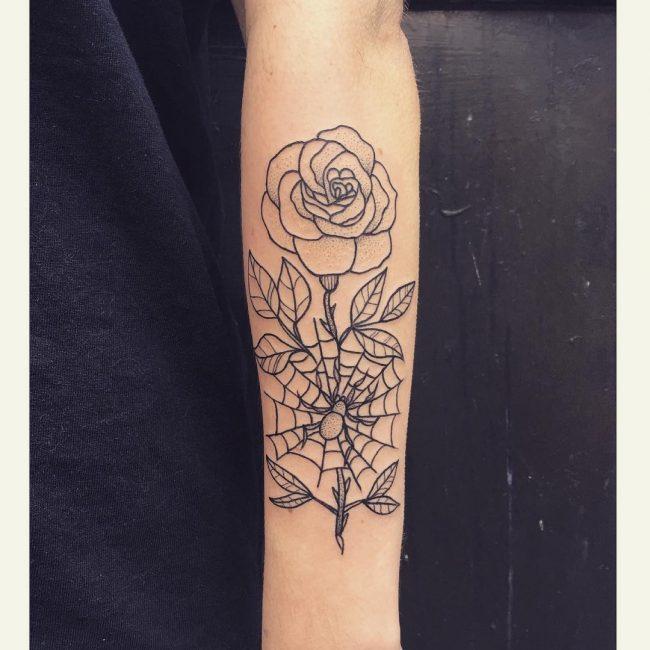 spider web tattoo24