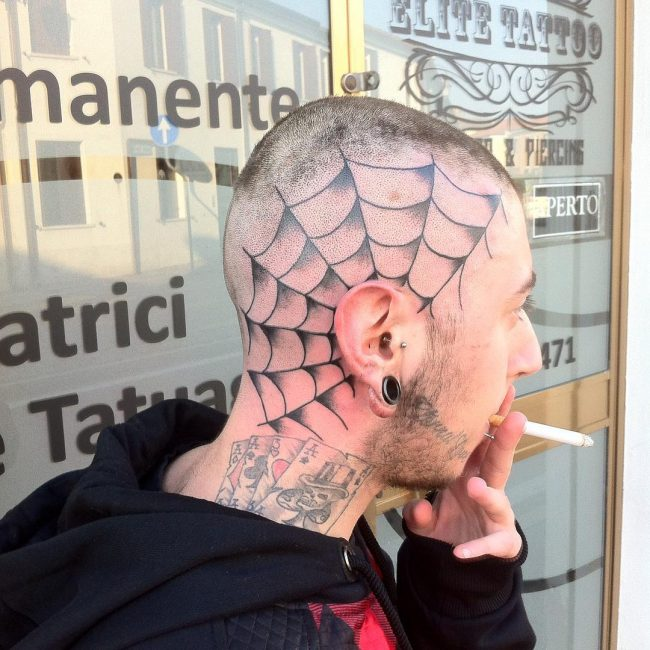 spider web tattoo25