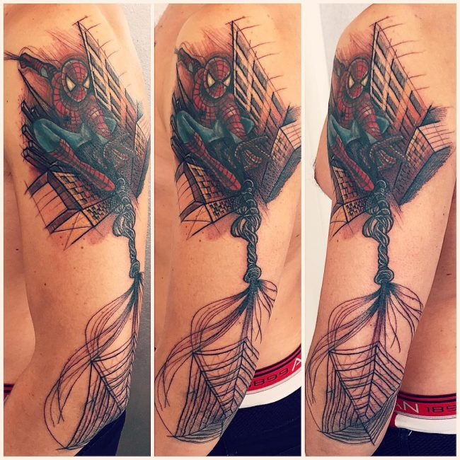 spider web tattoo28
