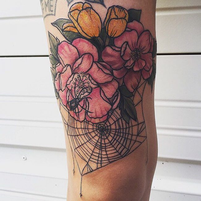 spider web tattoo32