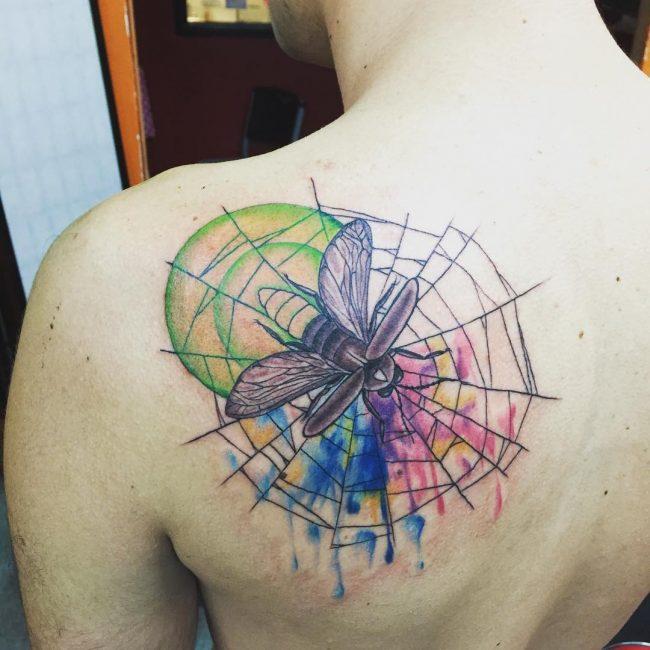 spider web tattoo33