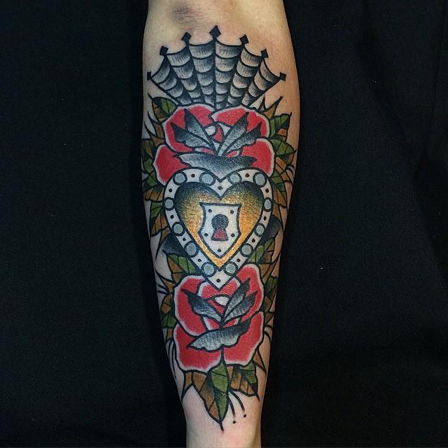 spider web tattoo35