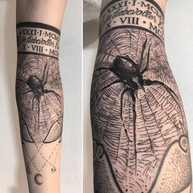 spider web tattoo9