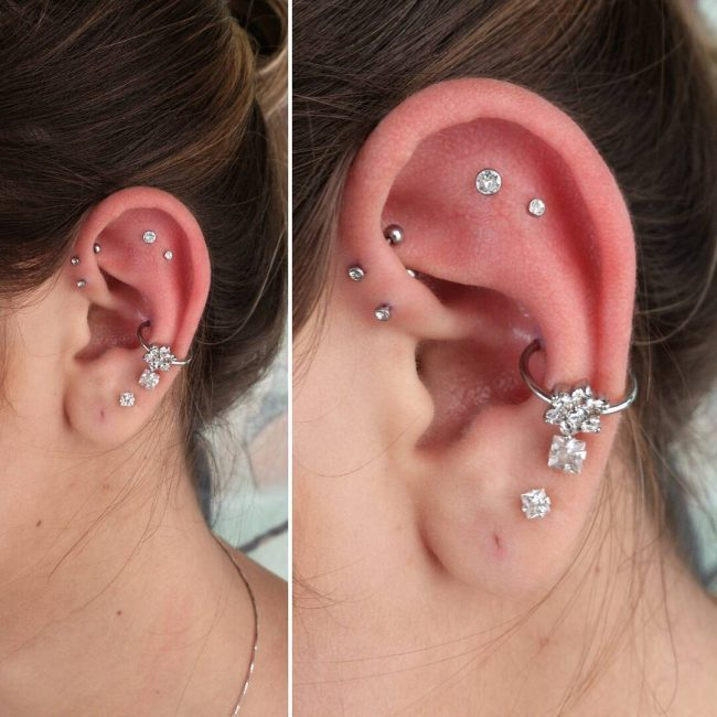 60 Trendy Types of Ear Piercings and Combinations – Choose ... Ear Piercings