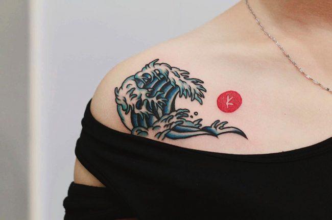 wave tattoo13
