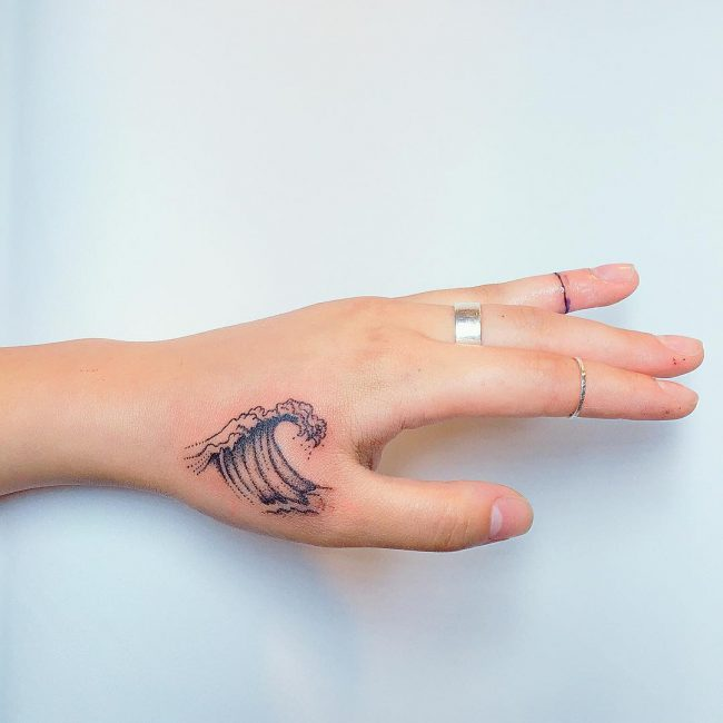 wave tattoo27