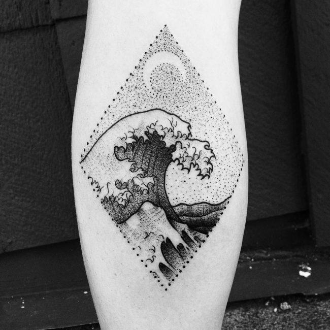 wave tattoo29
