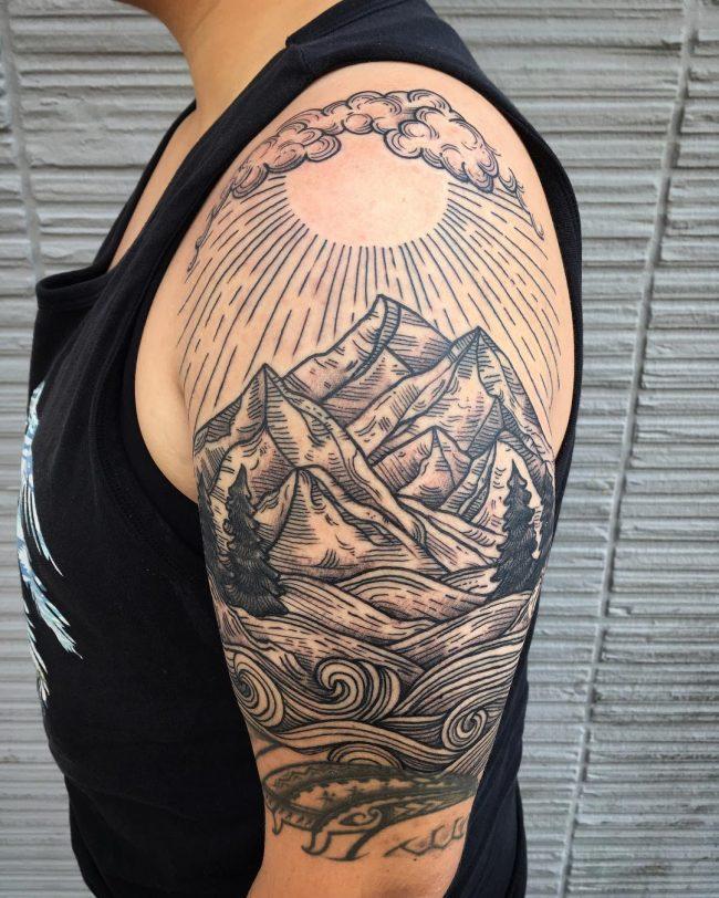 wave tattoo40